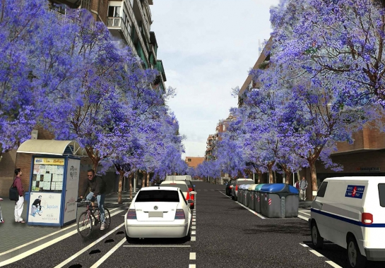 Redevelopment Project- Redevelopment of Sant Antoni Maria Claret street, between Costa Rica and Meridiana streets in Barcelona