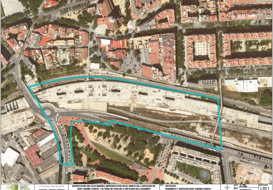 Modification of the General Metropolitan Plan in the area of Sant Andreu Comtal Station in Barcelona and the Taxi Area of La Sagrera station in Barcelona (MPGM Barcelona) | EFA Arquitectes, Sabadell